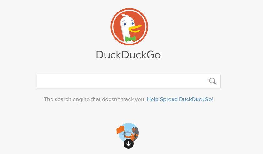 hakukone DuckDuckGo ruutukaappaus
