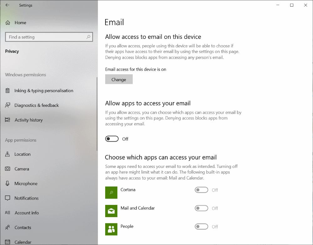 Microsoft windows 10 asetukset: tietosuoja