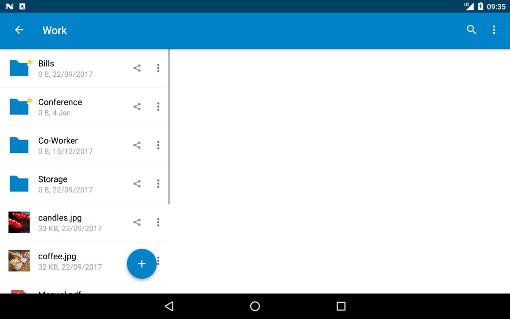 nextcloud app android-laitteessa