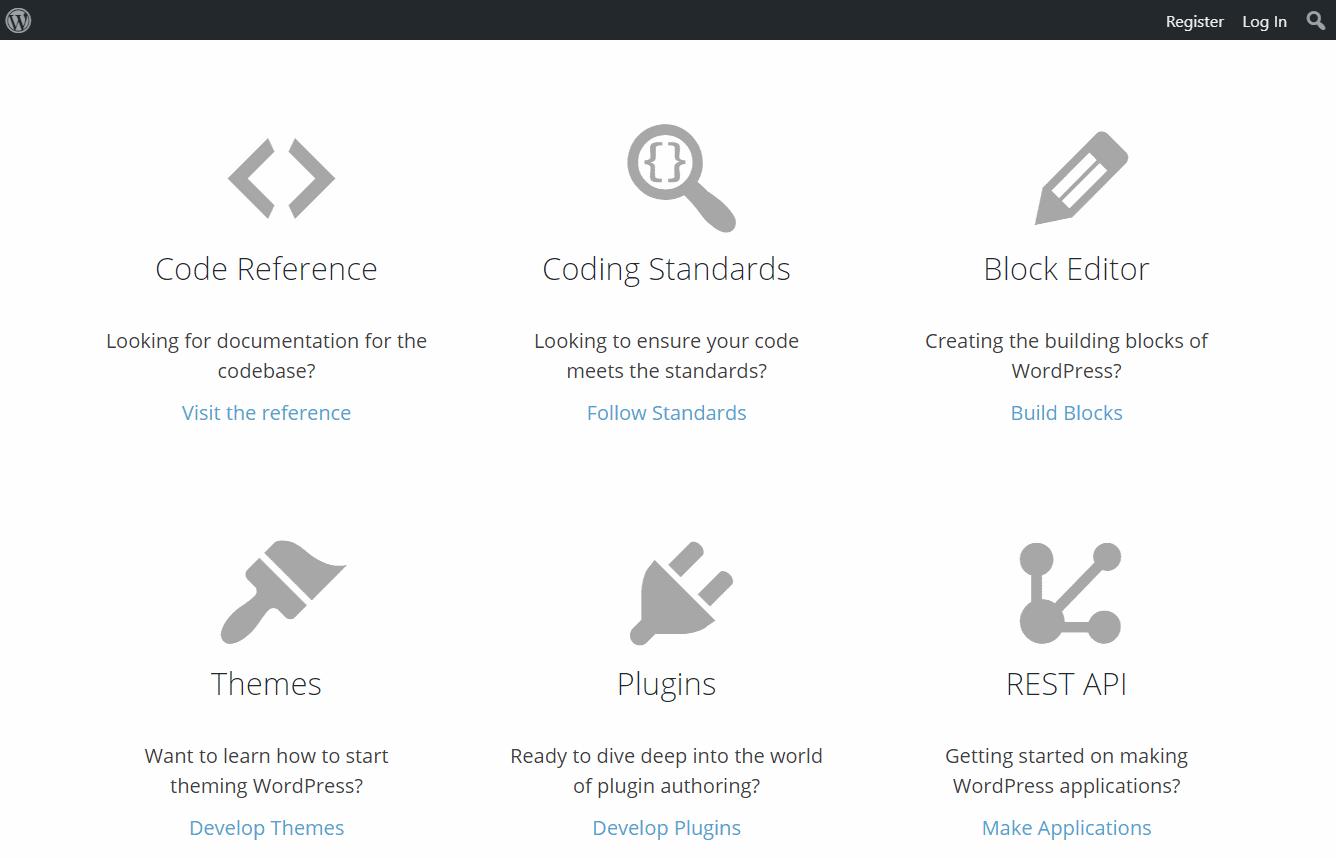 wordpress.org kehittäjien sivut