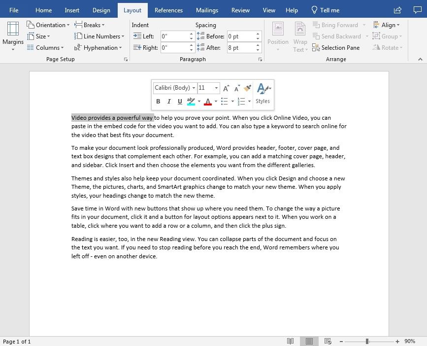 microsoft word tekstinkäsittelyohjelma