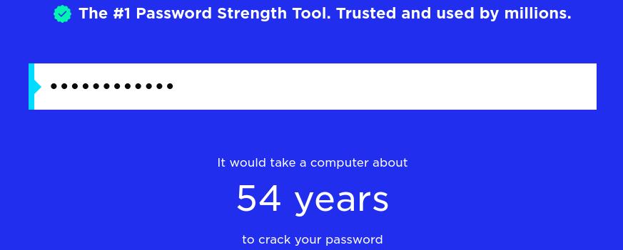 salasanojen vahvuuden testaus: security.org