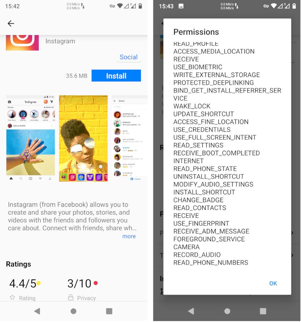 eos app store instagram
